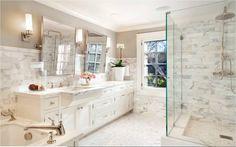 :: Palo Alto Cottage - Master Bath #1 :: - ScavulloDesign Interiors -