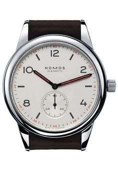 The NOMOS Club is their most affordable offering. With orange accenting and… | juwelier-haeger.de