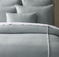 Linen Frayed Edge Duvet Cover