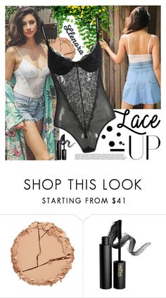 """LLENORA FASHION"" by gaby-mil ❤ liked on Polyvore featuring Estelle & Thild, INIKA, lace, bodysuit, shop and llenora"