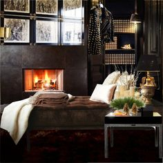 """Rock chic winter"" by gio-beautiful-life Beautiful Bedrooms, Beautiful Homes, Beautiful Life, Elegant Home Decor, Elegant Homes, Home Design Decor, House Design, Interior Architecture, Interior And Exterior"