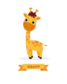 Giraffe print Safari animal nursery Safari by IreneGoughPrints