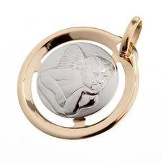 Raffaello's angel 18k gold round medal – 1,3 gr | online sales on HOLYART.co.uk