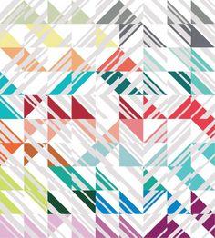 """Percolate"" quilt pattern designed by Emily Cier. Features Kona Cotton. Works with Emily Cier Designer Palette Series."