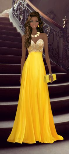 Covet Fashion Game-Challenge-Belle/Beauty and the Beast Fashion Prints, Fashion Art, Fashion Design, Fashion Dolls, Fashion Dresses, Virtual Fashion, Covet Fashion Games, Fashion Sketches, Strapless Dress Formal