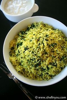 Methi Pulao is a simple Indian rice dish made using Fenugreek Leaves. Methi Recipes, Veg Recipes, Indian Food Recipes, Asian Recipes, Healthy Dinner Recipes, Vegetarian Recipes, Cooking Recipes, Recipies, Andhra Recipes
