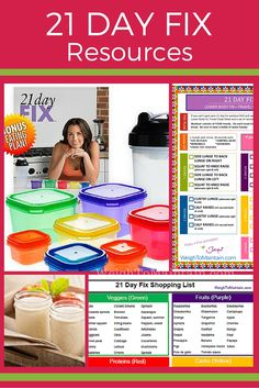 Printable worksheets, recipes, sample meal plans, review and tons of other resources for Beachbody's 21 Day Fix program. Download and print at WeighToMaintain.com #21DFX