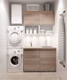 Best 20 Laundry Room Makeovers - Organization and Home Decor Laundry room decor Small laundry room organization Laundry closet ideas Laundry room storage Stackable washer dryer laundry room Small laundry room makeover A Budget Sink Load Clothes Modern Laundry Rooms, Laundry In Bathroom, Basement Laundry, Laundry Area, Modern Room, Bathroom Small, Bathroom Modern, Modern Closet, Modern Living