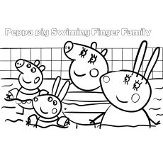 Peppa Pig Swimming Pool Coloring Peppa Pig Colouring Peppa Pig