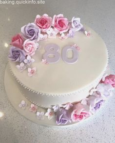 Super Birthday Cupcakes For Women Adult Ideas 70th Birthday Cake For Women, 90th Birthday Cakes, Elegant Birthday Cakes, Pretty Birthday Cakes, Birthday Cake Ideas For Adults Women, Fondant Cakes, Cupcake Cakes, Bolo Minnie, Wedding Anniversary Cakes