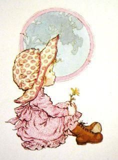 Sarah Kay Girl with tree Sarah Key, Vintage Pictures, Cute Pictures, Mary May, Susan Wheeler, Hobbies To Try, Hobby Horse, Holly Hobbie, Australian Artists