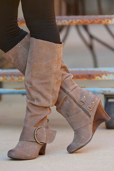 NAUGHTY MONKEY Jolt Boots - Taupe from Closet Candy Boutique Use my code   repheather for b1e4d80c3977