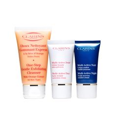 Multi-Active Travel Mates - Early lines and wrinkles? Don't go it alone.  Take skin care companions you can count on—packed and ready-to-go in a clear, travel-ready zip case.  Deluxe-Size One-Step Gentle Exfoliating Cleanser  Trial-Size Multi-Active Day Early Wrinkle Correction Cream  Trial-Size Multi-Active Night Youth Recovery Cream  A $17 savings!