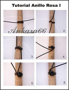 Tutorial anillo Rosa l | Se necesita 70 cm de alambre de 2mm… | Flickr