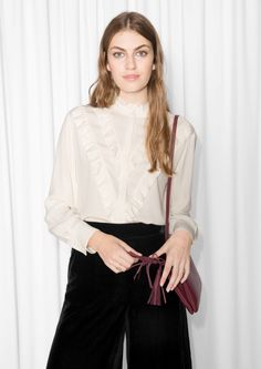 Other Stories image 2 of Frilly Blouse in Off white