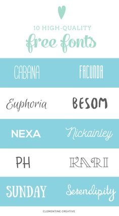 10 quality fonts you won't believe are free. Click here to get the download links.
