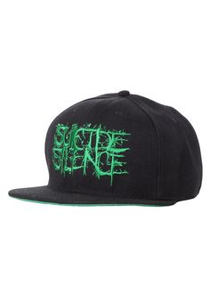 Suicide Silence - Green Fuck Everything Snapback - Cap - Official Merch Store - Impericon.com UK