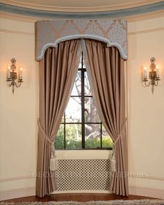 Window Cornices, Valances, Home Curtains, Window Curtains, Drapery Designs, Cornice Boards, Living Room Windows, Custom Windows, Window Styles