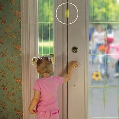 Childproofing Doors Safety Lever Handle pertaining to sizing 1600 X 1200 Baby Proofing Exterior Doors - Perhaps the best products available f Front Door Locks, Smart Door Locks, Front Doors, Home Safety, Baby Safety, Kids Safety, Safety Tips, Toddler Proofing, Basement Doors