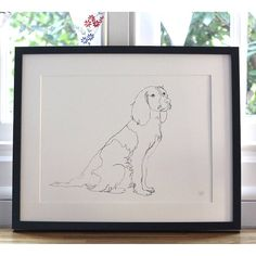 continuous line drawing portrait of your pet by mimi & mae | notonthehighstreet.com