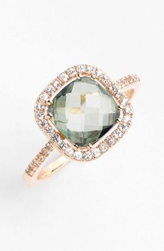 I'm obsessed with this as a non-traditional ring --- KALAN by Suzanne Kalan Cushion Stone Sapphire Bezel Ring available at #Nordstrom