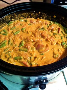 Vegan Curry Coconut - Crock Pot! I am going to do this without the chicken - adding thick cut veggies instead and veggie broth instead of chicken broth. YUM!