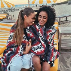 """Kristina Bazan on Instagram: """"Keeping it cozy with our blankets during the @revolveclothing dinner in the Hamptons with this boo @cibellelevi #RevolveintheHamptons #kaytureonthego"""""""