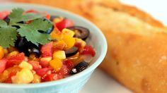 Pepper and Tomato Salad / سلطة الفلفل و الطماطم