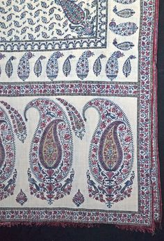 Block-printed early 19c Shawl, India. V&A Search the Collections