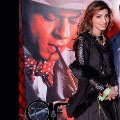 @aleena_m_ihsan A leather crop top and skirt by Aleena&Fareena
