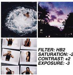 VSCO Cam Filter Settings for Instagram Photos | Filter HB2 Dark Effect