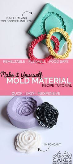 Make It Yourself Mold Material Tutorial and Recipe DIY Video Tutorial: Learn how to make your own mold material! This video tutorial will walk you through how easy & quick it is to make this amazing DIY product. Diy Silicone Molds, Resin Molds, Diy Resin Mold, Soap Molds, Cake Decorating Techniques, Cake Decorating Tutorials, Food Decorating, Resin Crafts, Resin Art