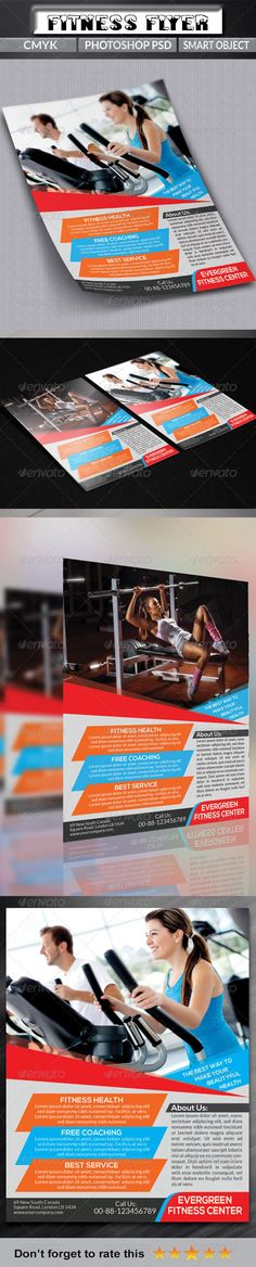 Health / Fitness Flyer Flyer template, Template and Flyer printing