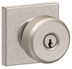 View the Schlage F51A-BWE-COL Bowery Keyed Entry Single Cylinder Door Knob Set with Decorative Collins Rosette at Build.com.