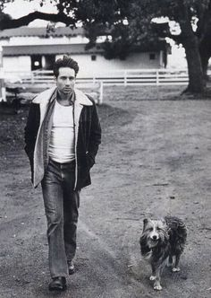 David Duchovny and his dog, Blue