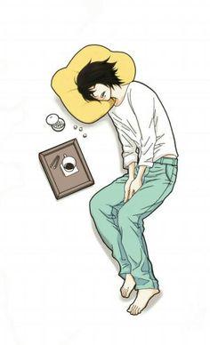 sto morendo di sonno!! voglio una tazza di caffe gigante!