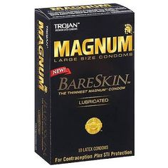 Condoms and Contraceptives: Trojan Magnum Bareskin Lubricated Large Size Condoms 10 Ea (Pack Of 9) BUY IT NOW ONLY: $70.78