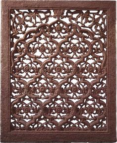 Open-worked pierced screen [jali] c.1630-1650  red sandstone    Collection of the National Gallery of Australia    Collection of the National Gallery of Australia