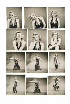 "vintage contact prints of Marilyn Monroe by Richard Avedon for Life from ""Marilyn Monroe,"
