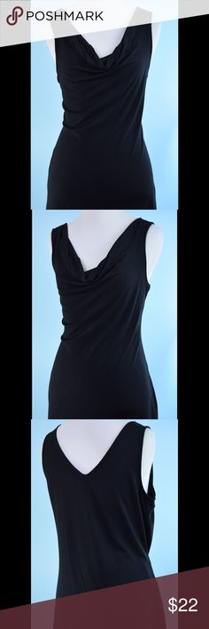 WHITE HOUSE BLACK MARKET drape front tunic top M WHITE HOUSE BLACK MARKET drape front tunic top Size Medium, length 27 inches, bust 36 inches, all good, stretchy! make offer! White House Black Market Tops