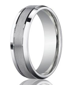 Designer 950 Platinum Men's Wedding Ring With Polished Edge | 6mm...nice and simple?