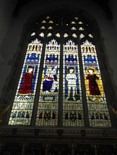 Stained glass window, St Edmunds Church, Southwold, Suffolk