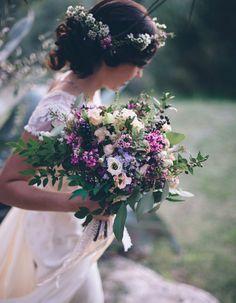 Bouquet de mariée mauve - 20 beaux bouquets de mariée pour égayer votre robe - Elle