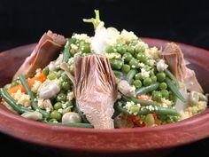 Couscous de printemps (semoule aux petits légumes) : Recette de Couscous de printemps (semoule aux petits légumes) - Marmiton
