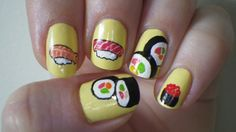 A Nail Biter's Dream Yummy Food Nails Omg Belle would flip, and she has a T-shirt just like it on!