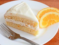 Orange Cake with Cream Cheese Frosting | What a delicious tropical dessert! This easy cake recipe has such a wonderful flavor!