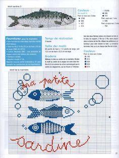 Cross Stitch Sea, Cross Stitch Kitchen, Cross Stitch Animals, Cross Stitch Charts, Cross Stitch Patterns, Cross Stitching, Cross Stitch Embroidery, Needlepoint Designs, Knitting Charts