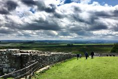 Having finished our picnic, we slide down from Hadrians Wall and examined Housesteads Fort