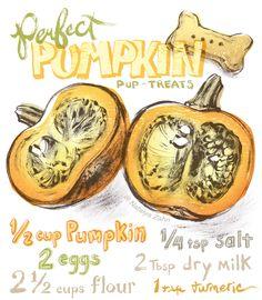 Pumpkin Dog Treat Recipe! Super simple, Oscar LOVES 'em - read the deets at www.oscaratemymuffin.com