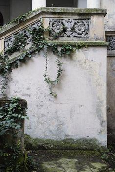 "From Visual Overdose, via ""andantegrazioso"" Provence, Gray Garden, Ivy House, Midsummer Nights Dream, Chapelle, Bucharest, Garden Styles, Beautiful Gardens, Architecture"